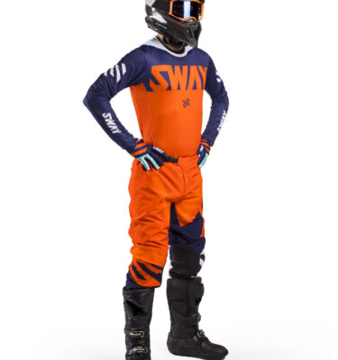 Sway MX SX0 Gear Set - Orange and Blue