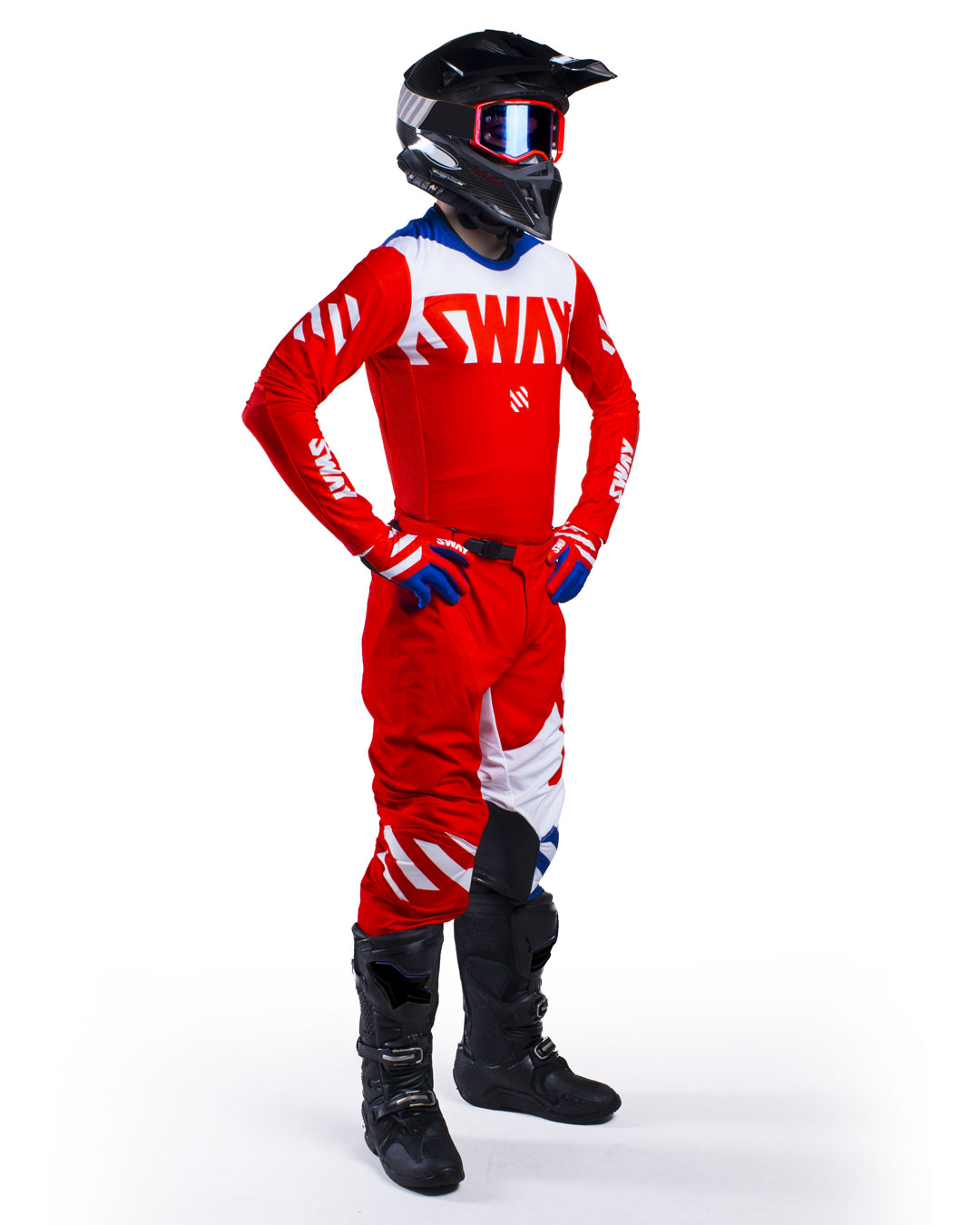 Sway MX SX0 Gear Set - Red and Blue